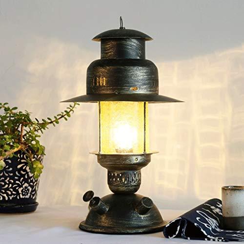 Tafellamp, retro, E27, ijzer, industrieel, glas, geel, schaduw, creatieve lounge, gedecoreerd