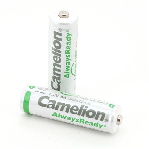 Camelion 17408206 - Pack de 2 baterías recargables AA (Ni-MH, 800 mAh)