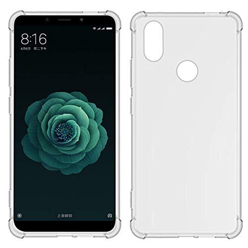 Capa Anti Impacto Antiqueda Para Xiaomi Mi A2 ou Xiaomi Mi 6X, Case com Bordas Reforçadas Totalmente Transparente
