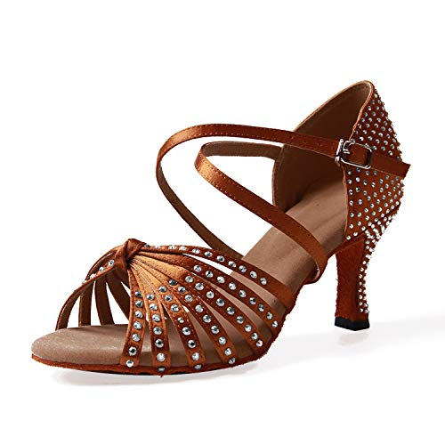 Naudamp Zapatos Baile Latinos Mujer Diamante Imitación