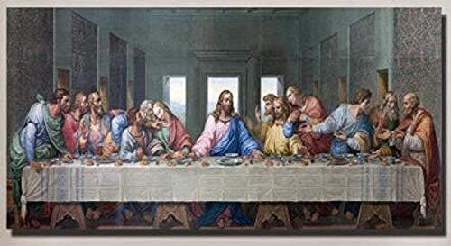 Fanxp® Letztes Abendmahl Puzzles Da Vinci Christian Art 1000 Stück Erwachsene Holzpuzzle Reduzieren Sie den Druck Junge Mädchen Geschenkspiele