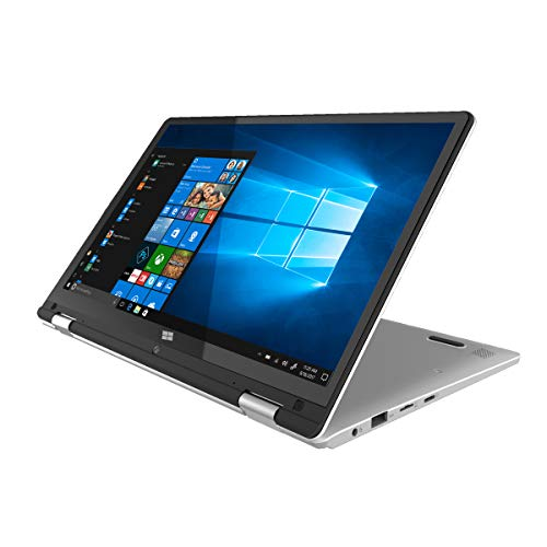 PRIXTON - Computer portatile / Notebook con schermo touch da 11,6 pollici, Processore Intel Quad Core, Sistema Operativo Windows 10, 4 GB RAM / 64 GB Memoria interna | Flex Pro