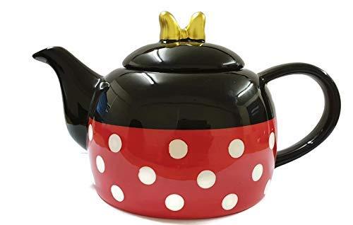 Disney Minnie Mouse Teekanne, Schwarz/Rot