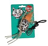 Aime - Juguete Estimulante con diseño de Leopardo para Colgar en Las Puertas o Tirar, Papel Ruidoso, Divertido Juego Interactivo de Puerta para Gato