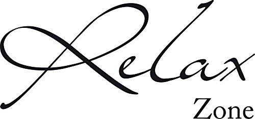 GRAZDesign Wandtattoo maritim Relax Zone - Badezimmer Tattoos Türaufkleber - Wandtattoo Wohnzimmer/Schlafzimmer/Wellness / 64x30cm / 650081_30_070
