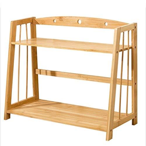 sujetalibros Decorativo Estantería de bambú simple Estantes de almacenamiento de mesa Dormitorio infantil Estantería de bambú Estantería de escritorio pequeña Durable ( Color : Brown , tamaño : 42cm )