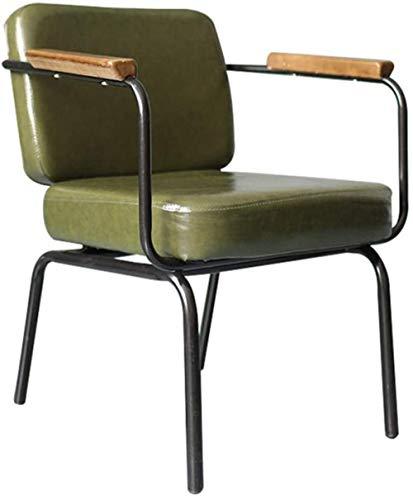 GAOLILI Bürostuhl mit Armlehne Dining Chair Metall Dining Chair Indoor Outdoor Nutzung Chic Restaurants Bistro Cafe Side Metallstühle Kissen Sitz Küche Küchenstühle