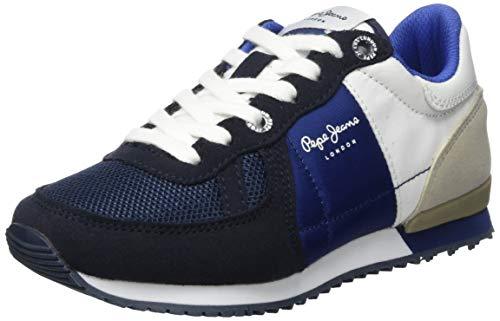 Pepe Jeans London Jungen Sydney Basic SS19 Sneaker, Blau (595navy 595), 34 EU
