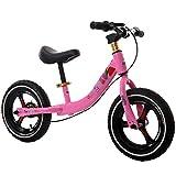 """Equilibrio Para Niños Y Niñas En Bicicleta De Acero Al Carbono Sin Pedales 2-5 Años 3 Colores,Red-12"""""""