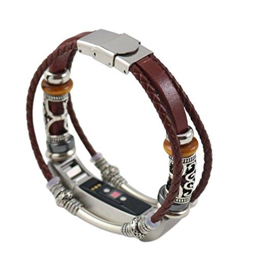 MORCHAN 1 * Bande De Cuir (Fitbit Alta HR Non Incluse) pour Bracelet Bandoulière en Cuir pour Fitbit Alta/Fitbit Alta HR (B)