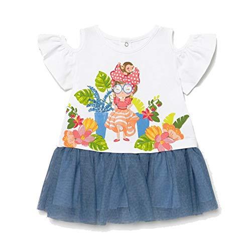 Mayoral Vestido Combinado Tul Bebe niña Modelo 1993