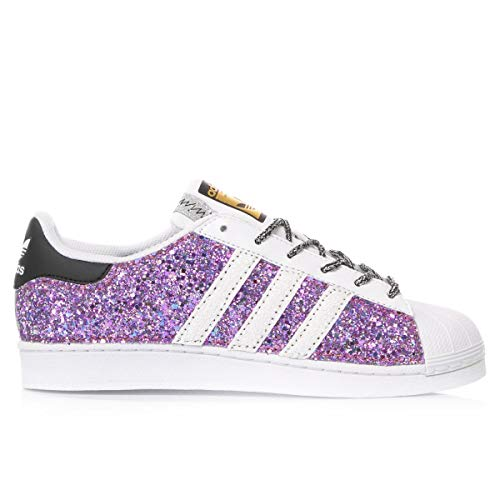 adidas Luxury Fashion Damen MI1240 Violett Glitzer Sneakers   Jahreszeit Permanent