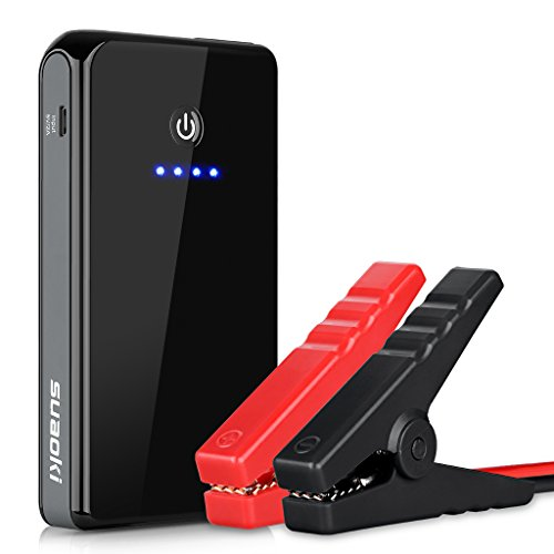 Suaoki K12 8000mAh 300A Peak Jump Starter Lithium Battery Booster Powerpack with Built-in Flashlight Perfect for Automotive Truck Motorcycle Boat