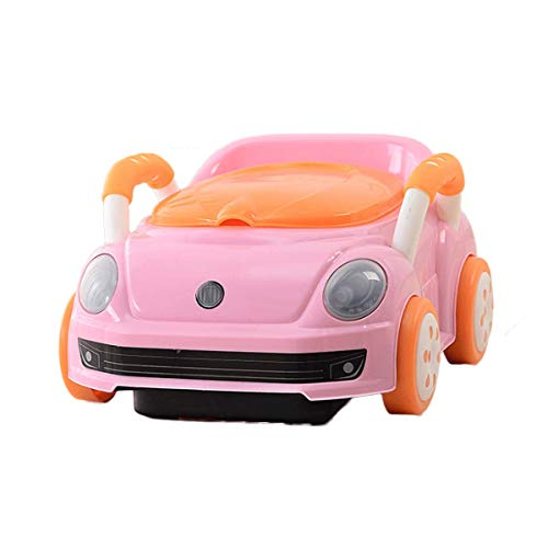 Practical Products Bébé Kid Potty Formation WC Enfant en Bas âge Pottys Cartoon Garçons Toy Car Design and Girls Pink-40 * 31 * 21 cm