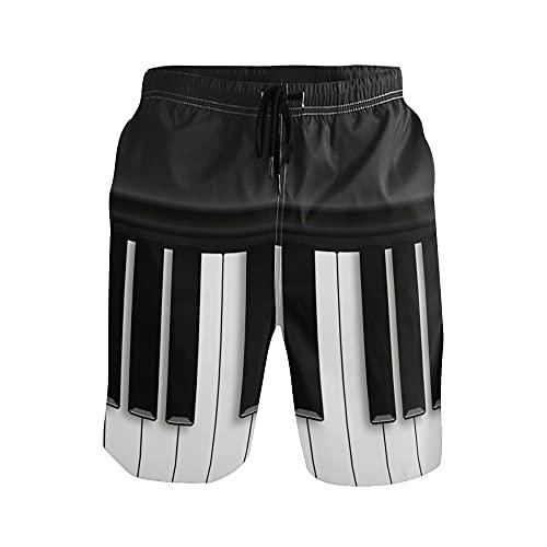 WowPrint - Pantalones cortos musicales para hombre, ligeros, secado rápido, deportes, gimnasio, entrenamiento, verano, playa, pantalones cortos