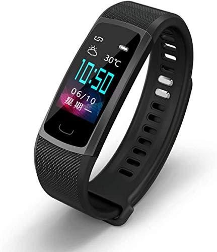 Pulsera inteligente de pantalla de color de alta definición, frecuencia cardíaca y presión arterial monitoreo impermeable de moda deportiva-negro