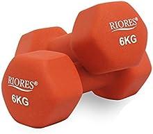 RIORES (リオレス) カラーダンベル 2個セット 1kg/2kg/5kg/6kg/8kg
