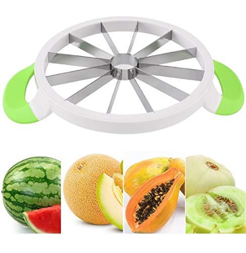 Cortador de sandía de acero inoxidable 15.7 grande, cortador de melón, cortador de melón, cortador de melón, servidor para el hogar
