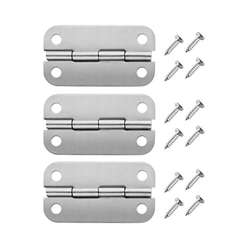 Radezon Stainless Steel Cooler Hinges Replacement for Igloo Style Ice Chests,316 Stainless Steel (3 PCS Cooler Hinges)