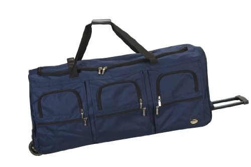 Rockland Unisex-Adult Rolling Duffel Bag, Navy