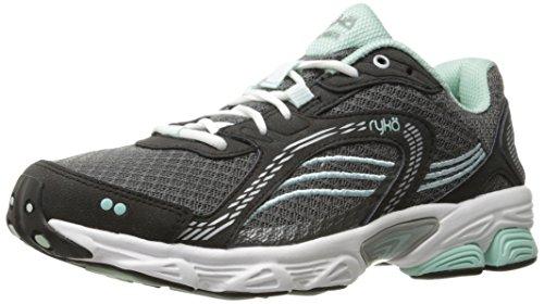 Ryka womens Ultimate Running Shoe, Grey/Black, 8.5 US