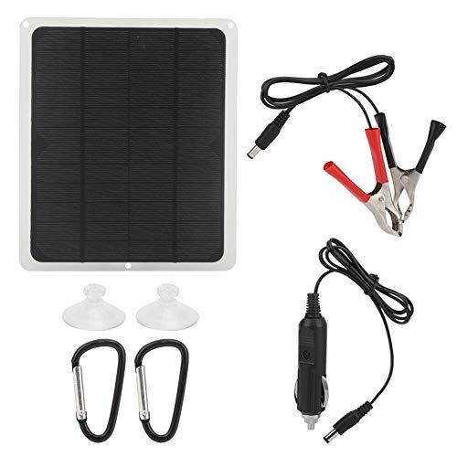 Eddwiin Panel Solar - 5W 12V Cargador de energía Solar de silicio monocristalino portátil 10W Jaula para Mascotas Ventilador de Escape Teléfono móvil Panel Solar Placa de Carga para automóvil