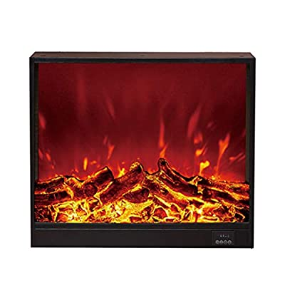 Insert Recessed Electric Fireplace Stove - Wall Mounted Heater Stove with W/Logs 3D Flames Ornamental - Insert Plug and Safer Sensor - Bottom Ventilation - 1500W / Black,66×18×56cm