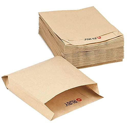 Ruby – Natuurlijke Kraft Papieren zakken, 100 stuks Kraft Voedselzakken Bruin papier Milieuvriendelijke zakken voor…