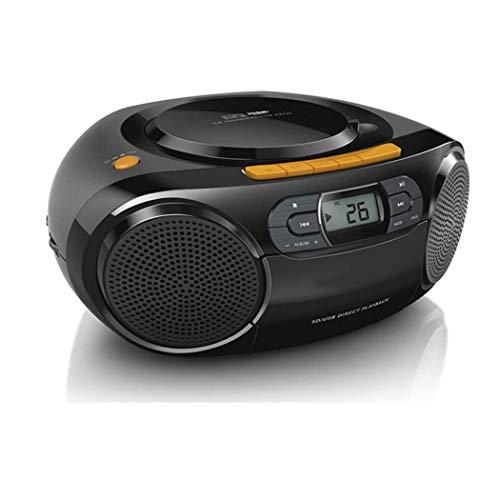 ZXy Boom Box Reproductor de CD con Control Remoto, grabadora de casetes, con Radio Am/FM, Entrada AUX de 3,5 Mm, Conector para Auriculares, Pantalla LED