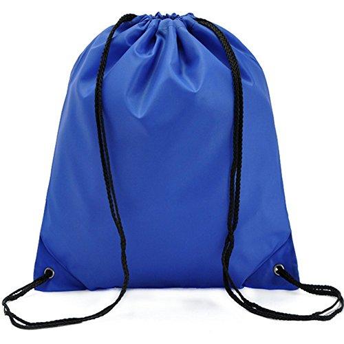 Gespout Sac à Dos Imperméable Tissu Oxford Poche à Cordon Sports de Plein air Voyager 34 * 39cm (Bleu)