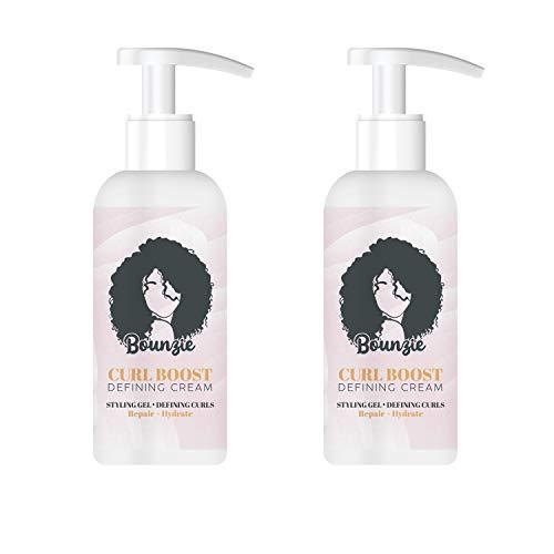 Curl Boosting Cream & Hair Oil Hair to Smooth Frizz Repairing Bounce (Elastin 2pcs)
