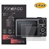 kinokoo Film de Verre trempé pour Canon PowerShot SX720 HS/SX710 HS/SX620 HS/SX610 HS Film de Protection d'écran Crystal Clear Canon sans Bulles/Anti-Rayures (Paquet de 2)