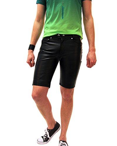 Bockle mannen lederen broek lederen shorts strak jeans 1991 lederslang