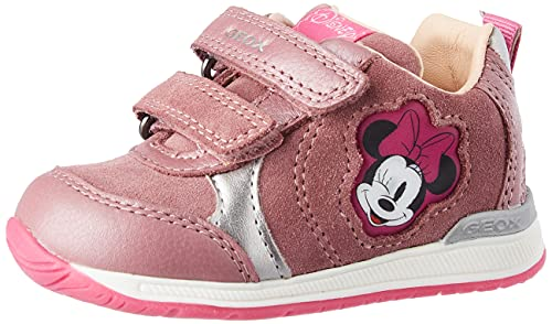 Geox - Scarpe da Bambina B Rishon Girl First Walker Shoe, Rosa (Rose Smoke), 21 EU
