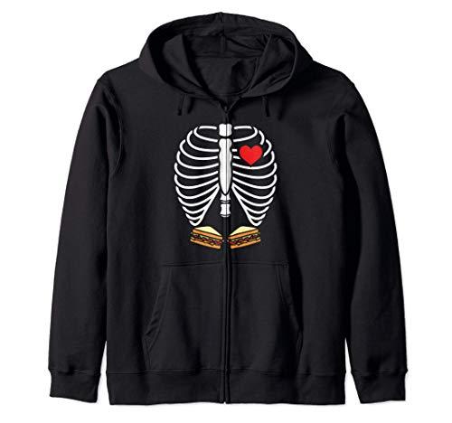 Disfraz de Halloween Sndwich Esqueleto de rayos X Sudadera con Capucha