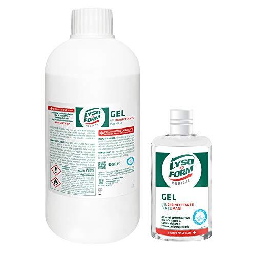 Lysoform Medical Gel Disinfettante Mani 70 ml + Lysoform Medical Gel Disinfettante Mani 500 ml