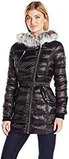Women's Asymetrical Belted Puffer