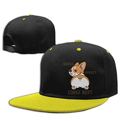 MIANZI Boys Girls Trucker Hat. Corgi Butt Guess What Peaked Baseball Cap Hip-Hop