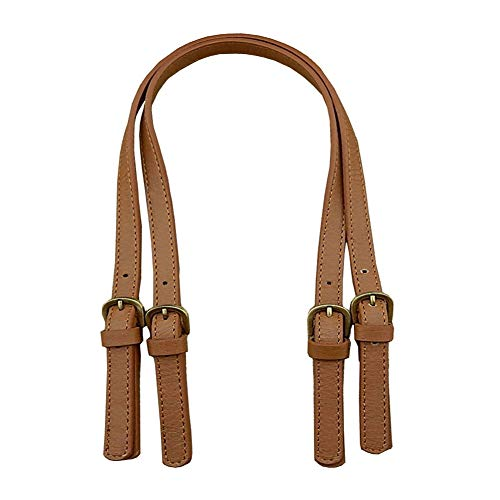 "Material: premium PU leather Size: strap adjustment range from 67cm to 71cm(26""-27""); wide: 1.5cm/0.6"" Perfect replacement strap or handle for purse or handbag Great for DIY handmade accessory. Please note: Need to sew by yourself Package includes: 2..."