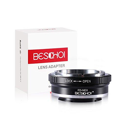 Beschoi FD-NEX Objektiv Adapter für Canon FD Objektiv auf Sony Alpha NEX E-Mount Kamera Sony NEX-3, NEX-5, NEX-7, NEX-C3, NEX-5N