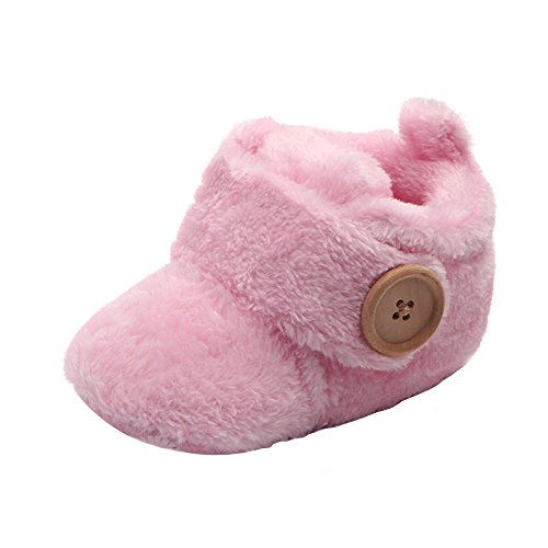Krabbelschuhe Babyschuhe Lauflernschuhe Kleinkind Ronamick Lovely Toddler First Walkers Baby Shoes Round Toe Flats Soft Slippers Shoes(Age:9-12Monate, Rosa)