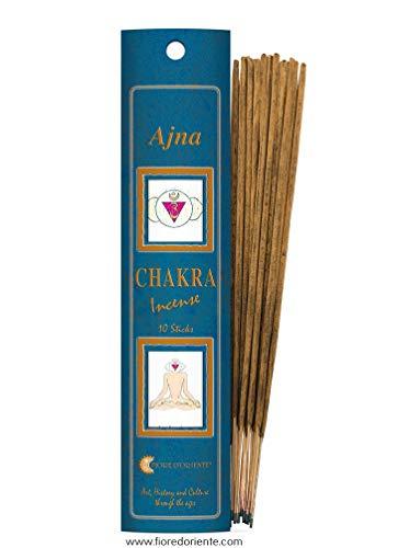 Fiore D'Oriente Ajna Chakra Incensi,  20 bastoncini, Blu