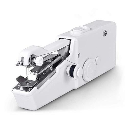 RHNE Máquina de Coser portátil de Mano Handy Stitch Mini máquina de Coser eléctrica Blanca
