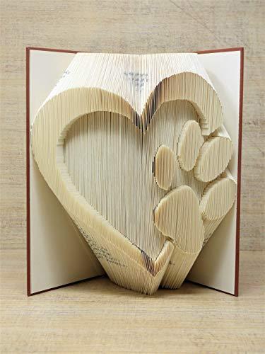 Kreative Buchkunst I Pfote im Herz I hangefertigtes Unikat