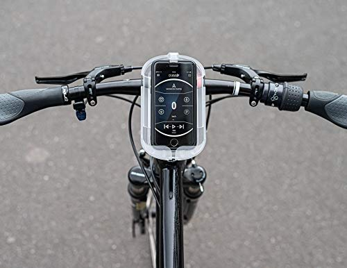 SMINNO® CESAcruise S Universäller Smartphone Halter & Freisprecheinrichtung, Fahrrad, E-Bike, Roller, Cockpit mit APP Transparent