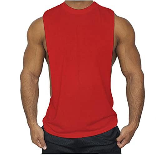 Sanfiyya para Hombre de Las Tapas del Tanque del Entrenamiento de Fitness Culturismo Ropa Escotado sisas Vivid Muscular Chaleco Singlets Hombres Activewear Tanque