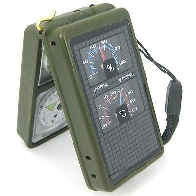 Multifunction 10in1 Outdoor Military Camping Hiking Survival Tool Compass Kit