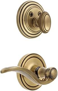 Grandeur GS72-LH-GEOBEL-VB Georgetown Handleset Interior with Bellagio Lever Left Handed, Vintage Brass Finish