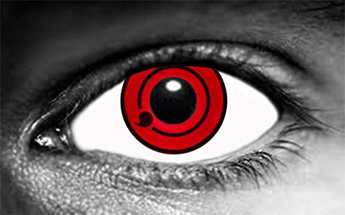 1 Paar Farbige Sharingan On-Tomoe-Kontaktlinsen (ohne Stärke)