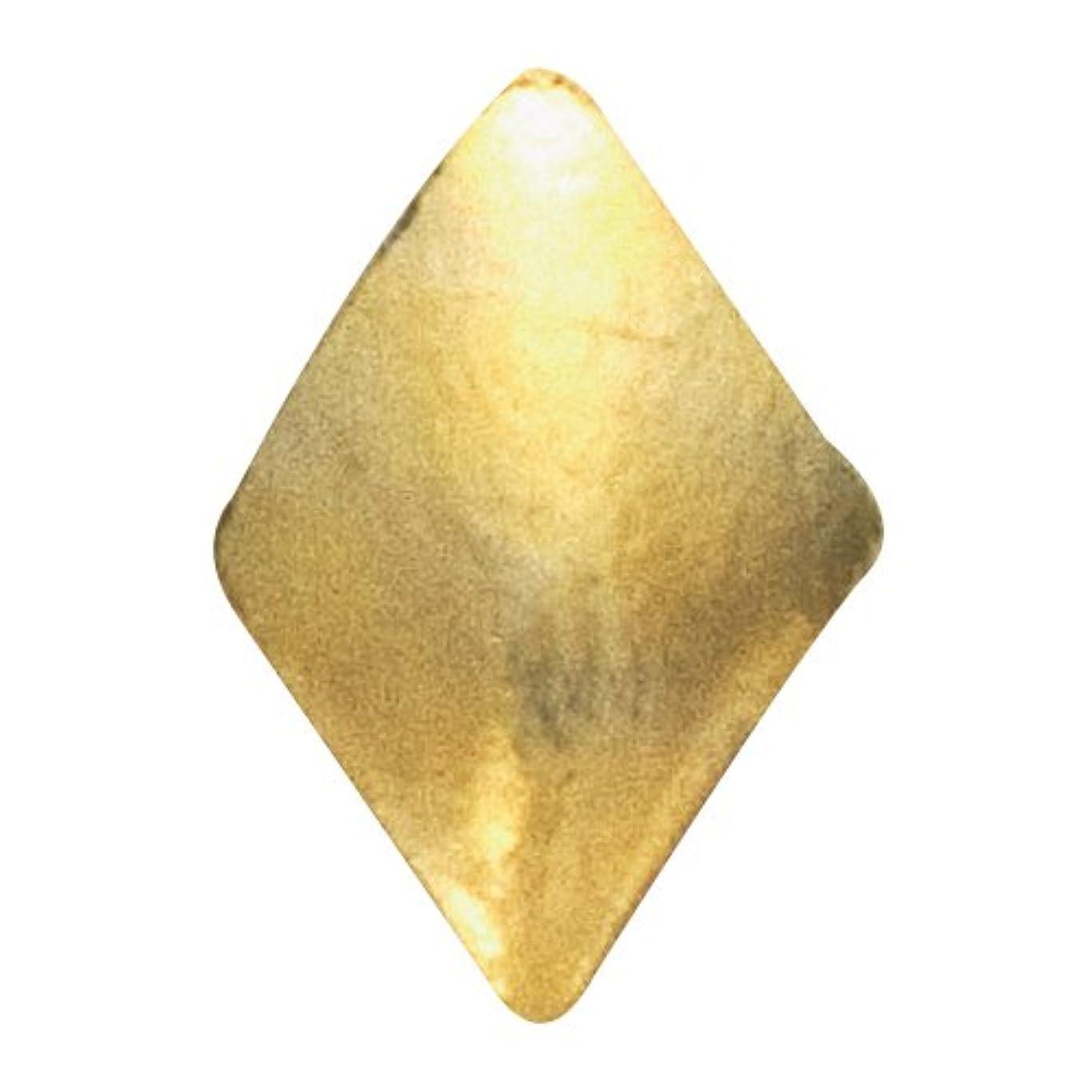 タオル自己神経リトルプリティー ネイルアートパーツ スタッズダイヤ 2×3mm ゴールド 50個